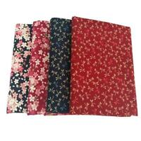 Japanese Style 100% Cotton Fabric Craft By Meter Floral Clothing Home Decor DIY