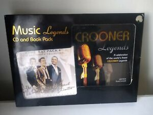 BOXSET THE RAT PACK CROONER LEGENDS DOUBLE CD AND BOOK #S4