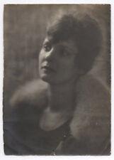 PHOTO ANCIENNE Portrait de femme Vers 1940 Profil Jeu de Lumière Studio Yeux