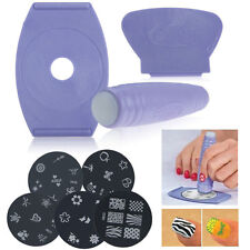 Professional Nail Art Stamp Stamping Polish Nail DIY Design Kit Decoratio