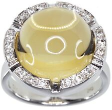 Citrine 12.80 carats Gemstone Sterling Silver Ring size M