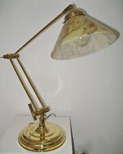 Tischlampe, Messing, verstellbar auch als kleine Stehlampe, Reproduktion