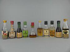 LOT  x10  Mignonnette ALCOOL / LIQUEUR / ANISETTE / VIN / CURAÇAO / ETC...