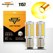 AUXBEAM 1156 1157 Turn Signal/Parking Reverse Light Bulbs Amber Yellow Canbus