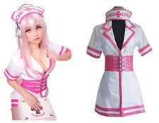 "Super Sonico""nurse version""uniform Cosplay Custom dress outfit  @@@66"