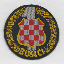CROATIA  ARMY - HVO -   1 Guard Brigade BUSICI  -  rare patch