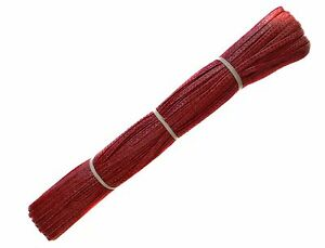 TRESSA SWISS BRAID SINGLE STARBRIGHT 5mm WIDE - 10 metres long CRIMSON