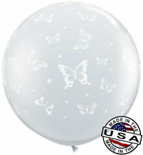 "3ft HUGE 36"" Butterflies on Clear QUALATEX Balloon Latex Balloon Decoration"