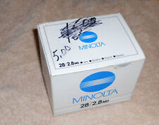 Minolta 28mm F2.8 MD Wide Angle Lens Box ONLY