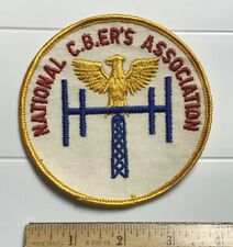 "National CBer's Association CB Radio Club 4"" Round Embroidered Patch"