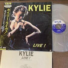 KYLIE MINOGUE Kylie Live! JAPAN Laser Disc LD TOLW-3121 w/ OBI +INSERT Free S&H