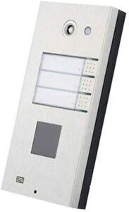 2N - Videocitofono Helios IP, Apriporta, 3 tasti, SIP/ Proxy, PoE (9137131CU)