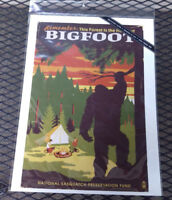 NEW Bigfoot Print - Forest is Home - Printed in USA 9x12 - Lantern Press