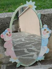 """NUOVO Specchio da parete in legno cameretta bimbi """"orsi"""""""