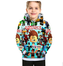 Kids Hooded Sweatshirt Boys Roblox Hoodie Pullover Jumper Battle Game Tops Gifts