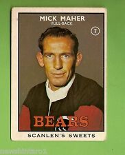 #D3. 1968 Ser. 2  RUGBY  LEAGUE  CARD #7  MICK  MAHER, NORTH SYDNEY BEARS