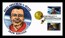 HAND COLORED US COVER ALAN SHEPARD 1ST AMERICAN SPACE MERCURY PROJECT FDC COMBO