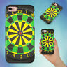 ROUND DART BOARD WITH BLACK BACKGROUND HARD BACK CASE FOR APPLE IPHONE PHONE