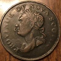 1832 NOVA SCOTIA HALFPENNY TOKEN - Imitation - Breton 871