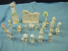 1989 & 1990 Butcher Precious Moments Christmas Nativity Set 21 Figurines