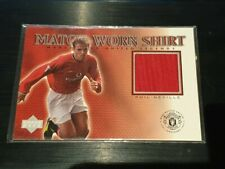2002 Upper Deck Manchester United Legends Phil Neville Game Worn Shirt