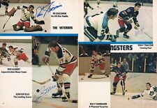 Giacomin Francis Ratelle Tkaczuk Fairbairn JSA Signed 1971 Rangers Yearbook Page