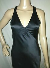 Women's Black Dress EXPRESS Size 2 Open Back Evening Gown w/ Beaded Accents NWT