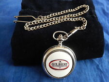 A RUGBY BALL POCKET WATCH WITH CHAIN (NEW)