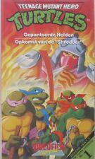 TURTLES - TEENAGE MUTANT HERO - GEPANTSERDE HELDEN/OPKOMST V/D  SHREDDER - VHS