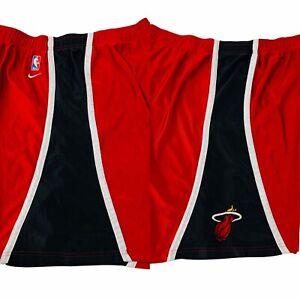 Miami Heat Nike NBA Basketball Shorts Red Sewn Mens XL X-Large NO TAGS