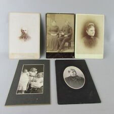 Lot of 5 mixed VTG Antique Studio Photo Cabinet Card Ripon Wi Wisconsin