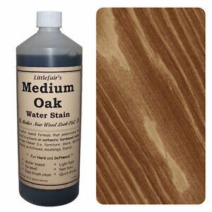 Littlefair's Water Based Environmentally Friendly Wood Stain / Dye - Medium Oak