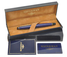 Waterman Expert, vintage blue fountain pen,  new old stock in box