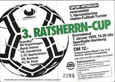 Ticket 1989 HT Hamburger SV, St. Pauli, Bröndby IF Kopenhagen, Banik Ostrava