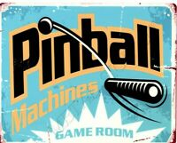 Pinball Machines metal wall sign small  games room man cave pub bar shed shop