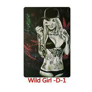 Metal Sign Sexy Girl Tattoo Body Weed Bikini Cave Wall Bar Shop Store Home Decor
