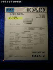 Sony Service Manual HCD WZ8D CD DVD Tuner (#5955)