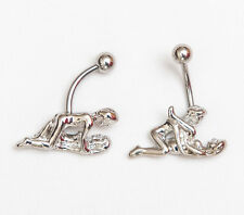 2 x Kama sutra navel belly bars different positions