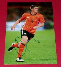 KLAAS JAN HUNTELAAR HAND SIGNED Autograph 12x8 FOTO holland soccer