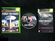 JEU Microsoft XBOX : FIRST TO FIGHT (complet, envoi suivi, 16+, marines)