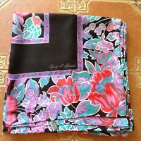 Outstanding Giant XL GUY St HONORE Floral Scarf