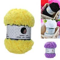 50g/Ball Chunky Faux Fur Cashmere Knitting Yarn White Acrylic Plush Yarn
