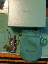 Clubs in tour Cart Bag W/Pull Cart Rare Tiffany & Co. Sterling Silver Golf