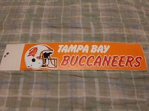 TAMPA BAY BUCCANEERS Vintage Team Bumper Sticker (1990's) Decal Strip #2