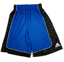 Adidas Training Shorts Mens Small Blue Black Elastic Waist Workout Fitness New