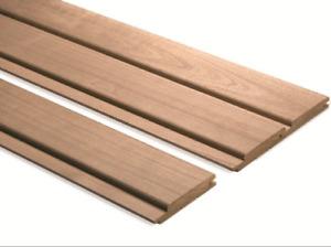 Profilholz Thermo Espe Profilbretter Sauna Holz Saunaholz 15x90x2400mm A Sort