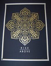 Shepard Fairey Obey Giant Print Rise Above Mandala Art Poster Gun Reform