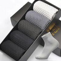 Mens Bamboo Fiber Stockings Socks Casual Business Toe Boot Cotton Socks Simple