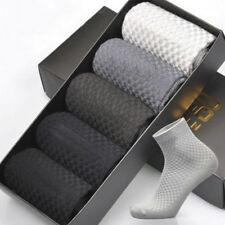 Brand New Men Bamboo Fiber Socks High Low Cut Casual Breatheable Anti-Bacterial