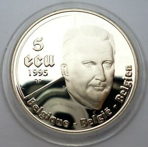 Belgium 5 Ecu 1995 Silver coin proof King Albert II - United Nations (T130,9)
